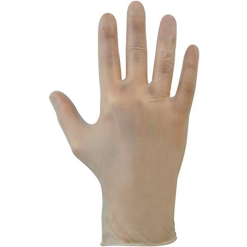 Finesse Clear Vinyl Powdered Disposable Gloves - Pack of 100