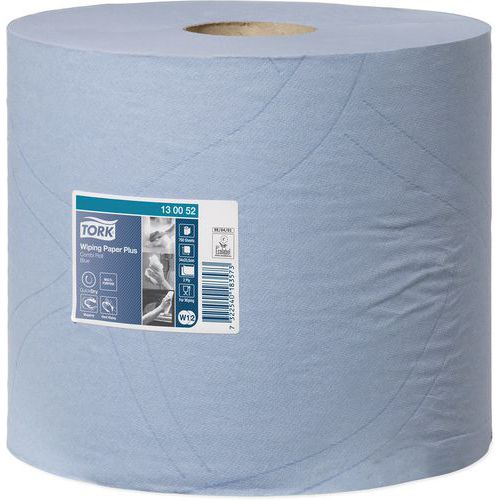 Tork Wiping Paper Plus - White/Blue