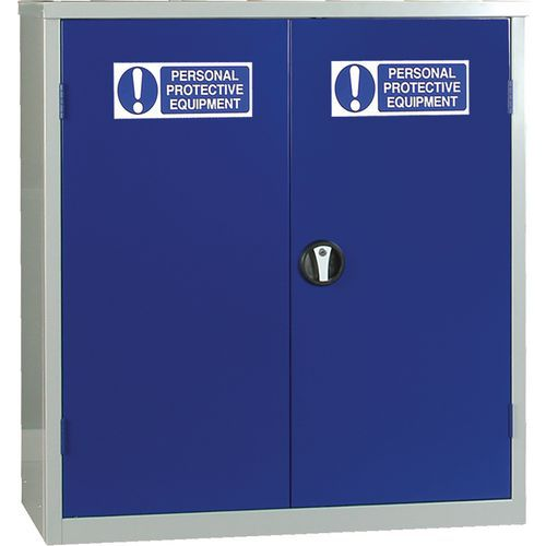 PPE Cupboard - Low Double Door Cabinet
