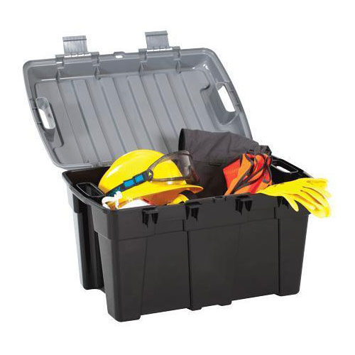 48L Capacity Black and Silver Storage Trunk