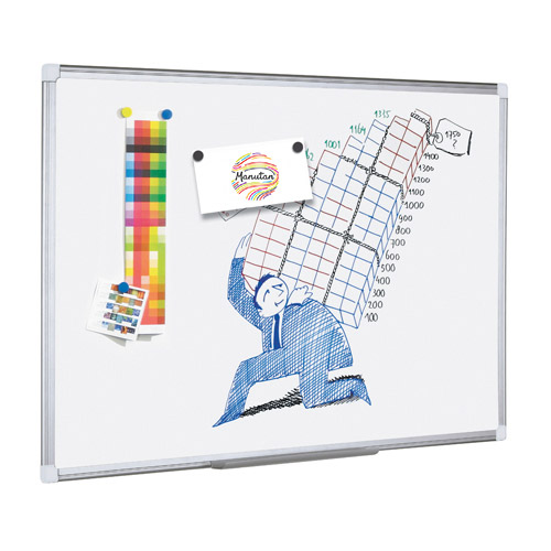 Manutan Lacquered Steel Whiteboard