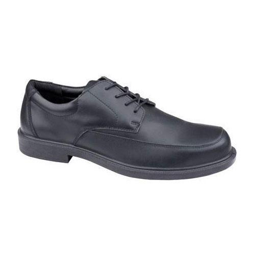 Black Leather Bristol Shoes