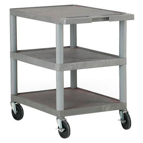 Plastic Shelf Trolley - 120kg Capacity