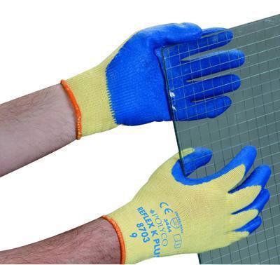 Kevlar Latex Grip Gloves