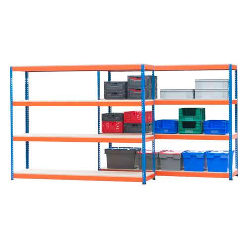 Rapid 1 Shelving- 2 Bay Offer- 4 Shelves per bay