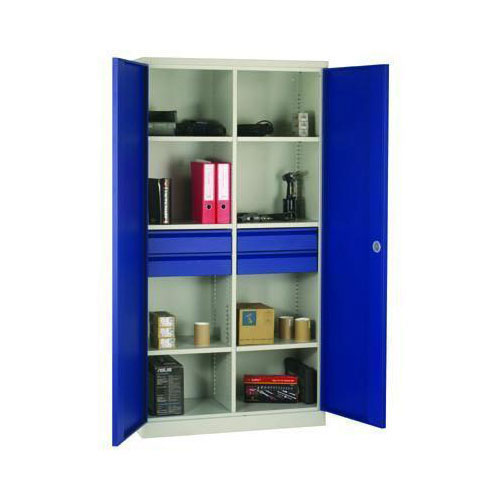 Tall Wide Compartment Cupboards With Drawers