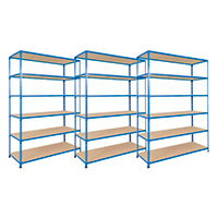 3 Bays of Rapid 2 Shelving with 6 Levels