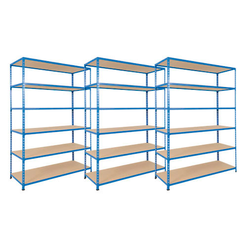 3 bays of rapid 2 shelving with chipboard shelves rapid for 3 bays