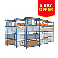 5 Bay Offer - 5 Rapid 2 Shelving Units