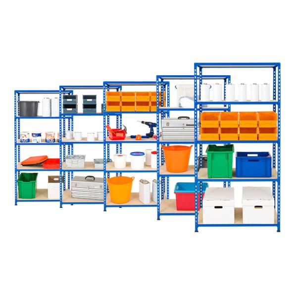5 Bays of Rapid 2 - 5 Shelves (1830h x 915w)