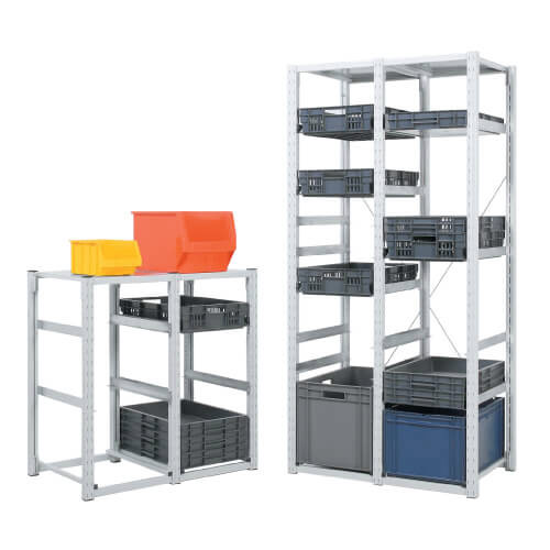 Eurocontainer Steel Shelving (350w x 400d) For 400 x 300 Containers