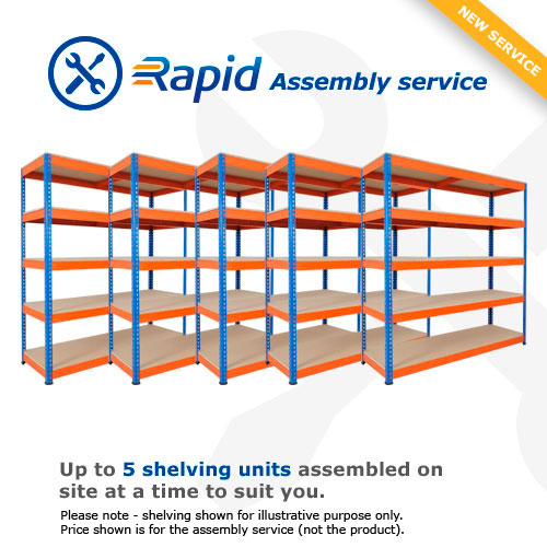 Rapid Assembly 5 Bay Kit – We'll build the shelving for you