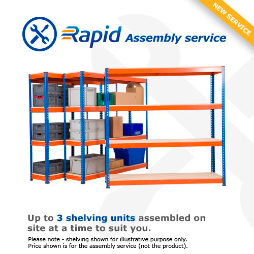 Rapid Assembly 3 Bay Kit – We'll build the shelving for you
