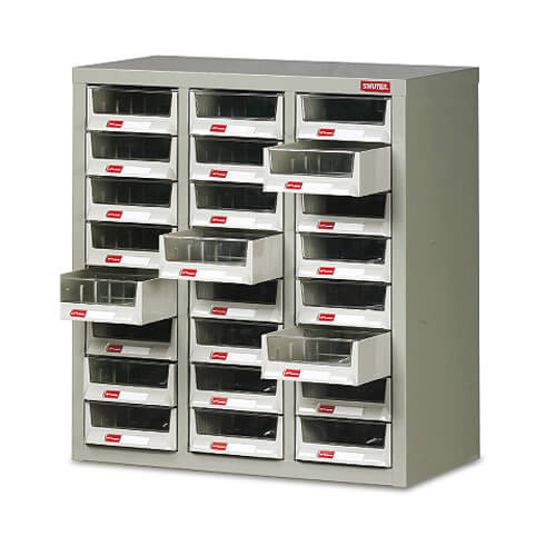 24 Drawer Small Parts Cabinet