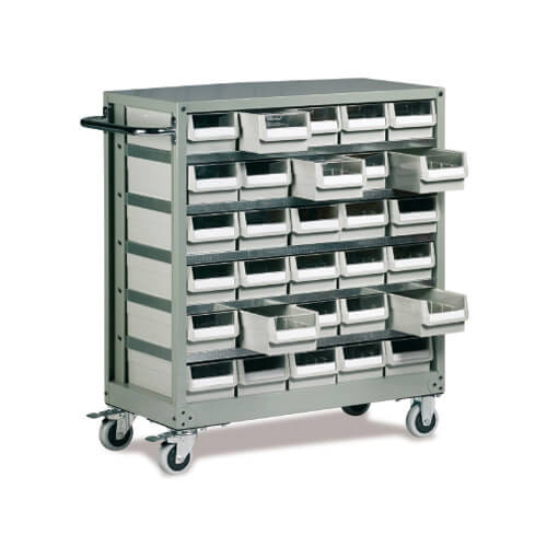 30 Mobile Drawer Small Parts Cabinet