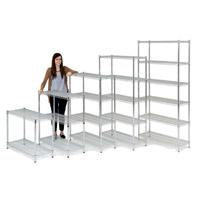Chrome Shelving Bays Additional Sizes - 2 to 6 shelves