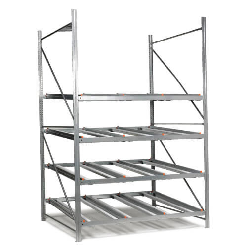Economy carton live shelving (2000h) - Add - on Bays