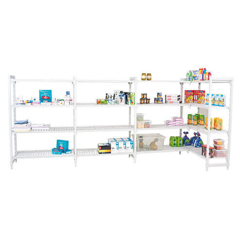 Cambro Shelving (1700h x 1300w) With 4 Solid Shelves