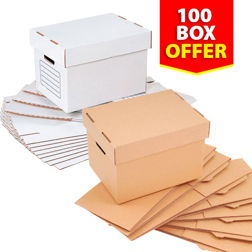 Document Storage Boxes - Pack of 100