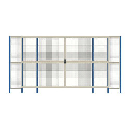 Mesh Machine Guard - Double Sliding Door