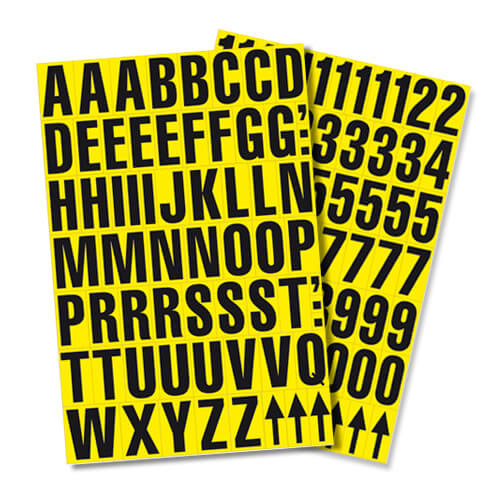 Self Adhesive Letters - 9.5mm high