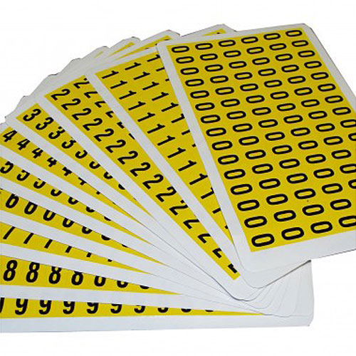 Self Adhesive Numbers - 12.5mm high