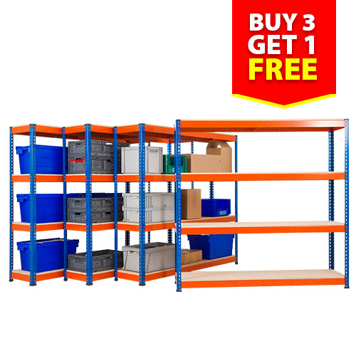 Rapid 1 Shelving - (1830h x 1830w) 4 Bays for the Price of 3 - Bays with 4 Shelves