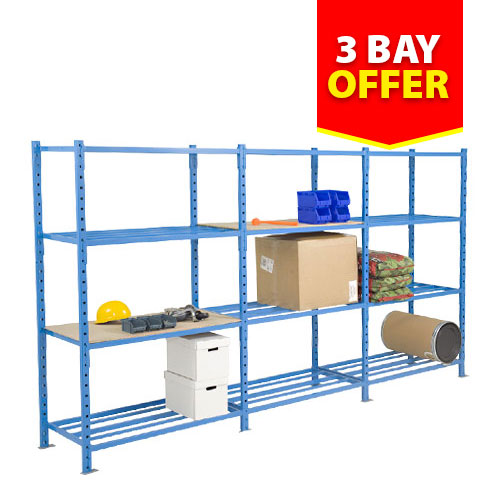 Heavy Duty Tubular Shelving (2000h x 1000w) 3 BAY OFFER