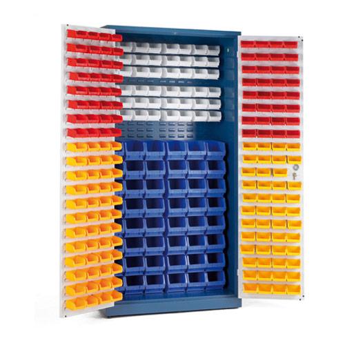 Lockable Bin Cupboard - Louvre Panels