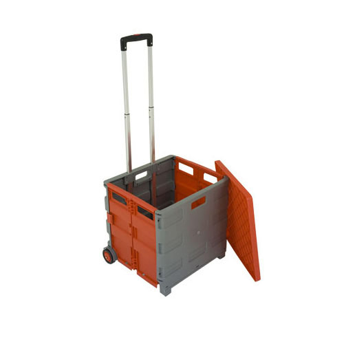 Folding Box Trolley With Lid Rapid Racking