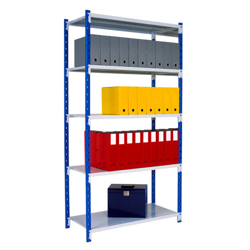 Tubular Starter Bay (2000h x 1250w) With 5 Solid Shelves