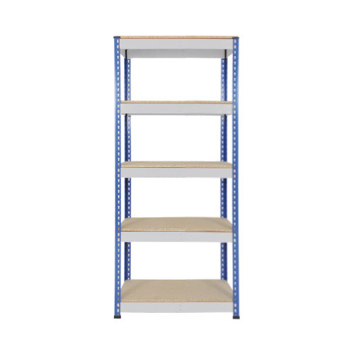 Rapid 1 Heavy Duty Shelving (1980h x 915w) Blue & Grey - 5 Chipboard Shelves
