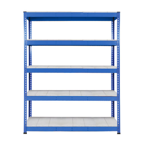 Rapid 1 Heavy Duty Shelving (1980h x 1220w) Blue - 5 Galvanized Shelves