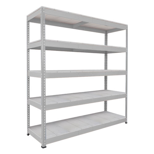 Rapid 1 Heavy Duty Shelving (1980h x 1525w) Grey - 5 Galvanized Shelves