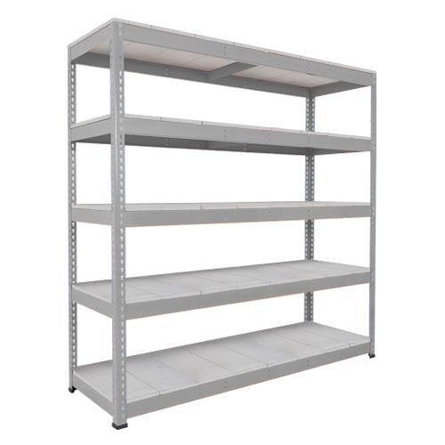 Rapid 1 Heavy Duty Shelving (1980h x 1830w) Grey - 5 Galvanized Shelves