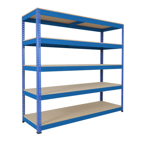 Rapid 1 Heavy Duty Shelving (1980h x 2134w) Blue - 5 Chipboard Shelves
