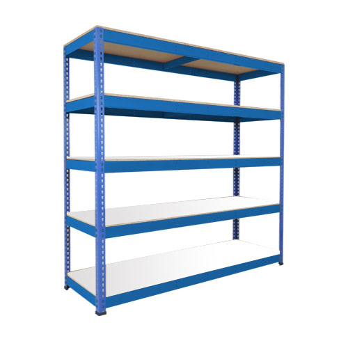 Rapid 1 Heavy Duty Shelving (1980h x 2440w) Blue - 5 Melamine Shelves