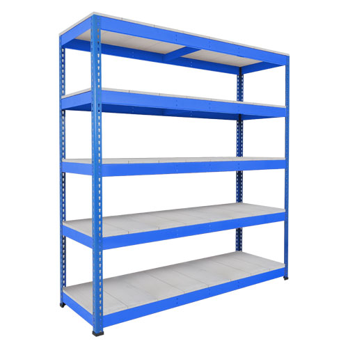 Rapid 1 Heavy Duty Shelving (1980h x 2440w) Blue - 5 Galvanized Shelves