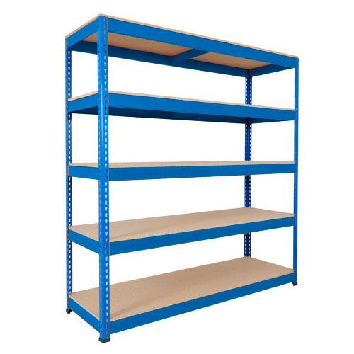 Rapid 1 Heavy Duty Shelving (2440h x 1525w) Blue - 5 Chipboard Shelves
