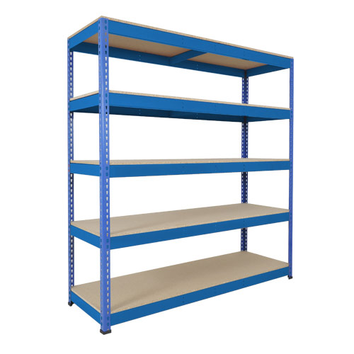 Rapid 1 Heavy Duty Shelving (2440h x 1830w) Blue - 5 Chipboard Shelves