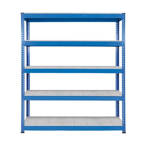 Rapid 1 Heavy Duty Shelving (2440h x 1830w) Blue - 5 Galvanized Shelves