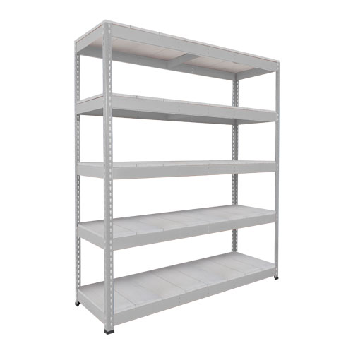 Rapid 1 Heavy Duty Shelving (2440h x 1525w) Grey - 5 Galvanized Shelves