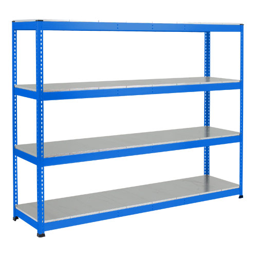Rapid 1 Heavy Duty Shelving (2440h x 2134w) Blue - 4 Galvanized Shelves