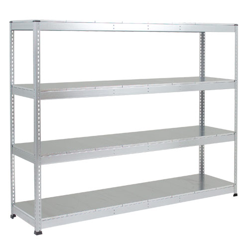 Rapid 1 Heavy Duty Shelving (2440h x 2134w) Grey - 4 Galvanized Shelves