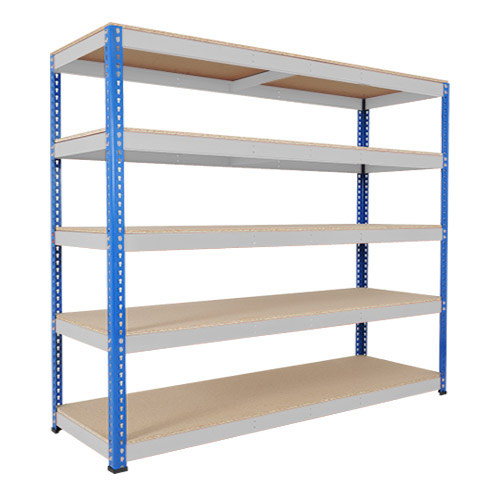 Rapid 1 Heavy Duty Shelving (2440h x 2440w) Blue & Grey - 5 Chipboard Shelves