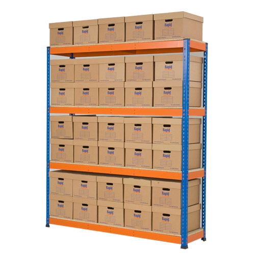 Rapid 1 Single Sided Archive Storage with 35 Boxes
