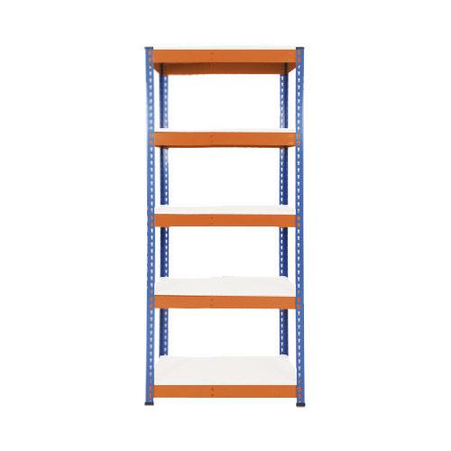 Rapid 1 Shelving (1980h x 915w) Blue & Orange - 5 Melamine Shelves
