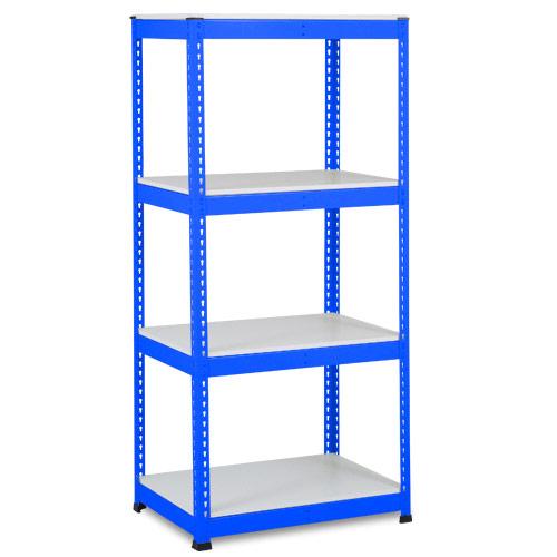 Rapid 1 Shelving (1980h x 915w) Blue - 4 Melamine Shelves