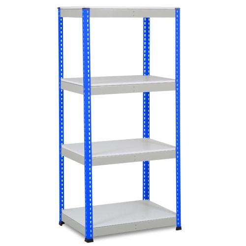 Rapid 1 Shelving (1980h x 915w) Blue & Grey - 4 Melamine Shelves