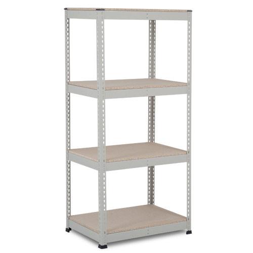 Rapid 1 Shelving (1980h x 915w) Grey - 4 Chipboard Shelves